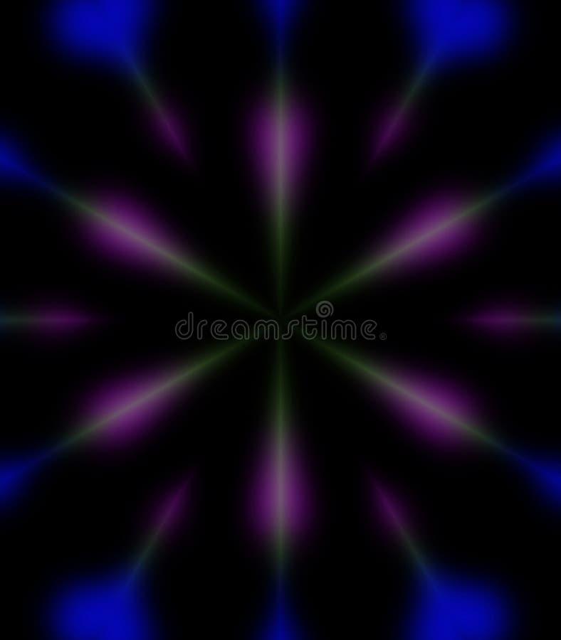 Blau und Purpur strahlt Hintergrund aus lizenzfreie stockfotografie