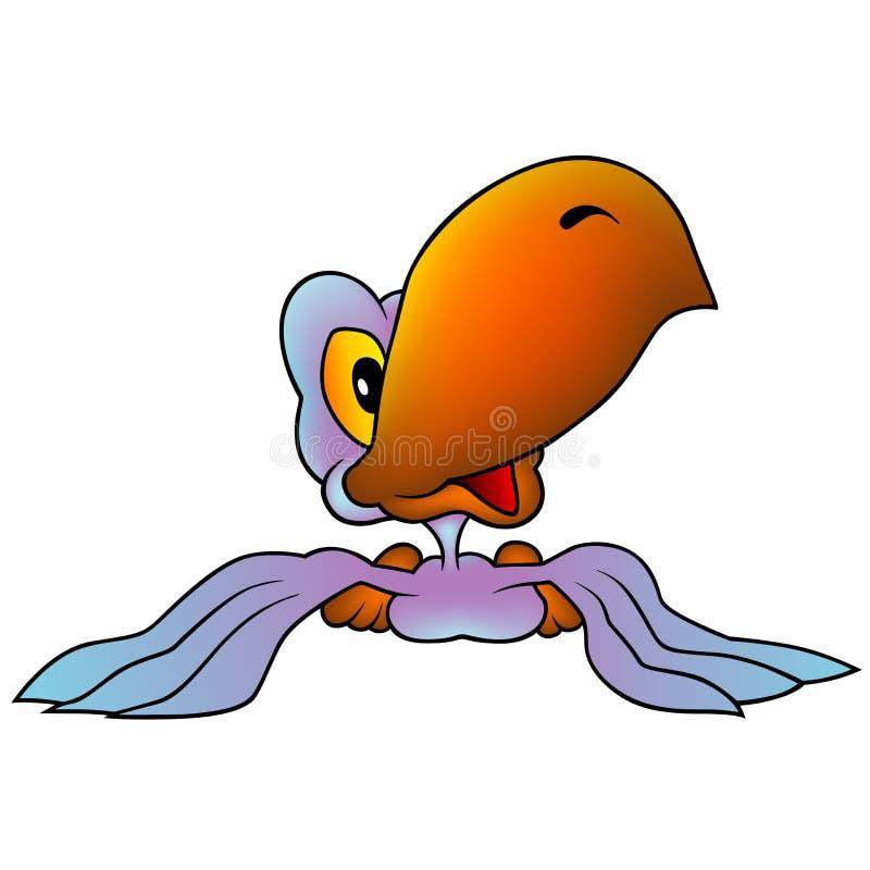 Blau-violetter Papagei stock abbildung
