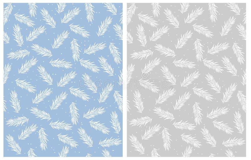 Blau-, weißes und Grauesdesign stock abbildung