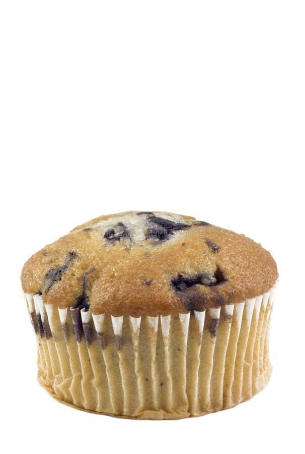 Blaubeere-Muffin-vertikaler weißer Hintergrund stockbilder
