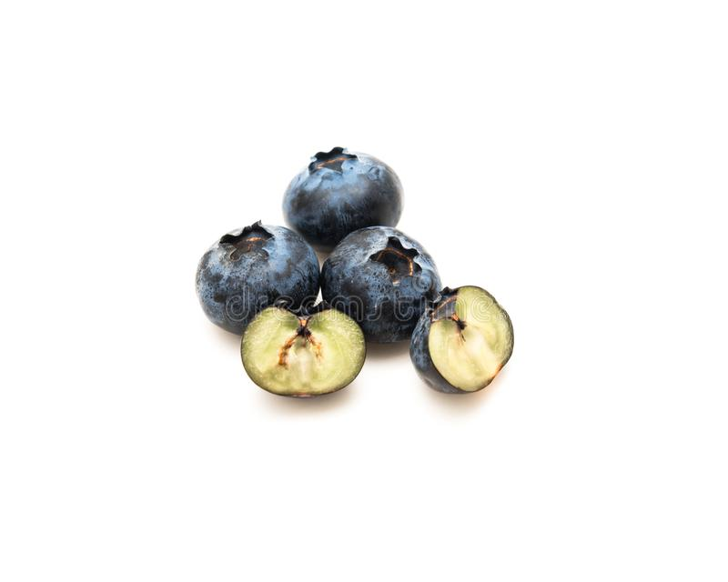 Blaubeergesunde Antioxidansfrucht lokalisiert auf Weiß stockfotografie