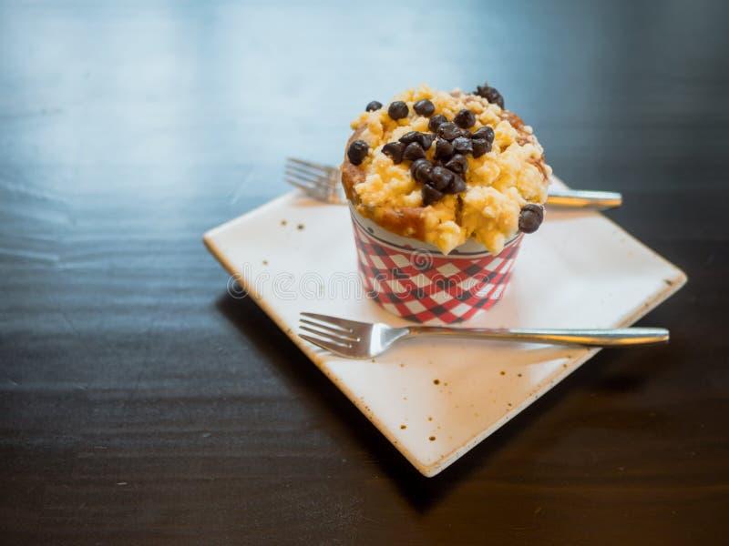 Blaubeerschachkuchen lizenzfreie stockfotos