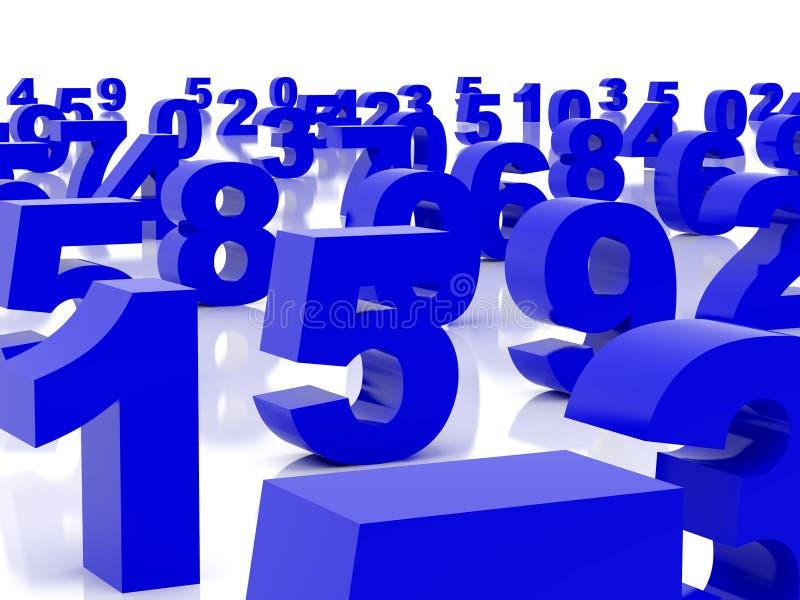 Blaue Abbildungen vektor abbildung