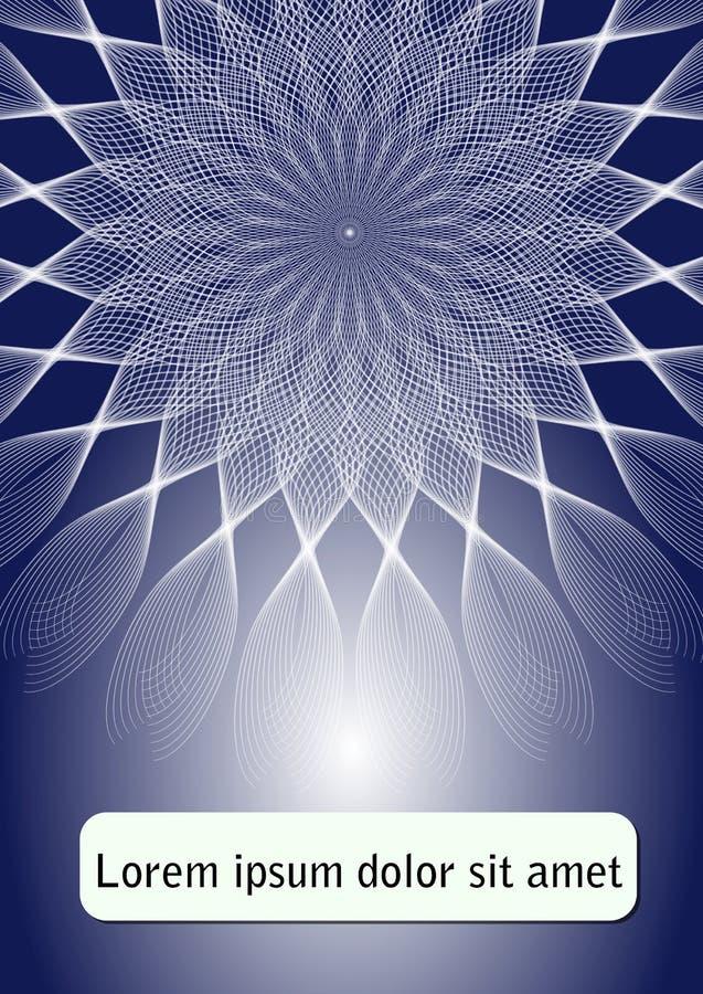 Blaue abstrakte Fliegerschablone Plakat mit Sternform auf dunkelblauem Hintergrund-, Broschüren- oder Abdeckungsdesign mit Platz  lizenzfreie abbildung