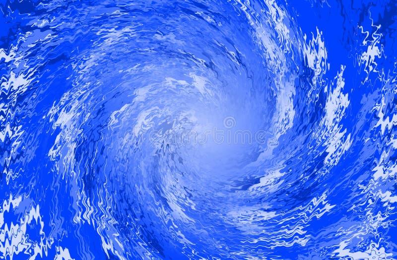 Blaue abstrakte Hintergrundspirale vektor abbildung