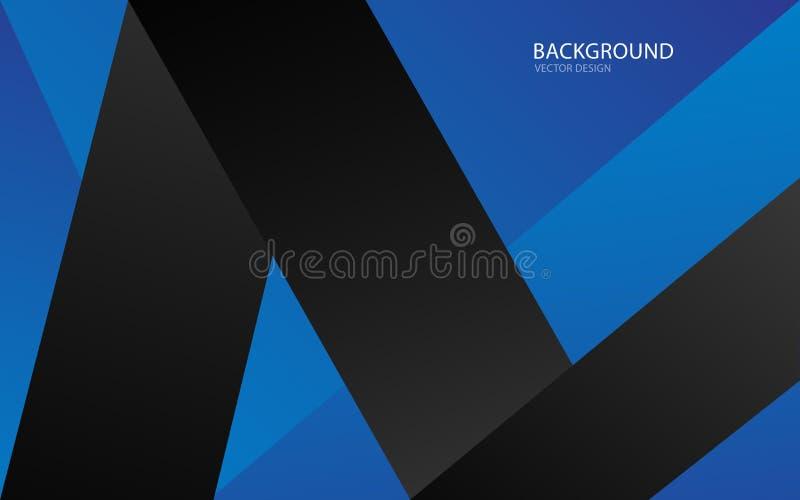 Blaue abstrakte Hintergrundvektorillustration wand Abbildung im Vektor abdeckung karte Beschaffenheit tapete Flieger brosch?re Ja stock abbildung