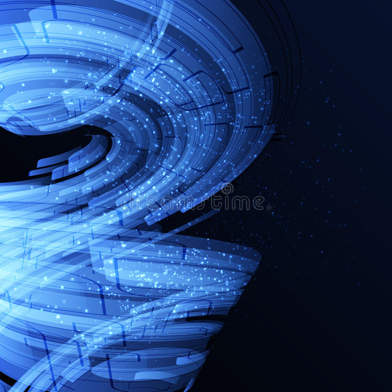 Blaue abstrakte Schablone stock abbildung