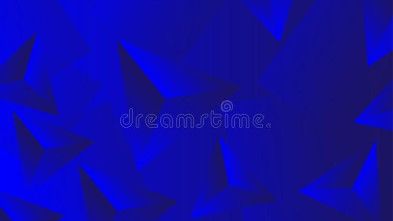 Blaue abstrakte Tapete 3D für Entwurf vektor abbildung
