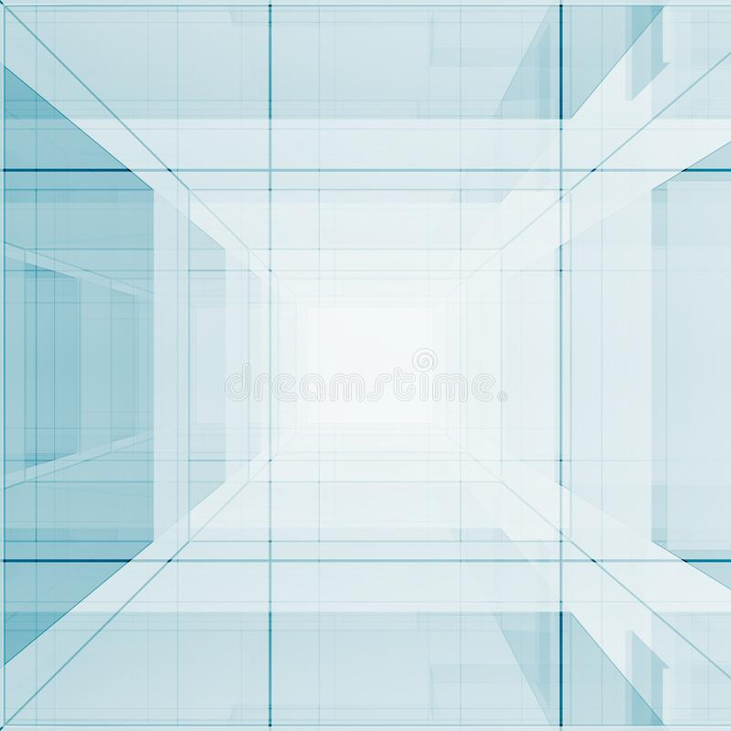 Blaue abstrakte Wiedergabe des Designs 3D stock abbildung