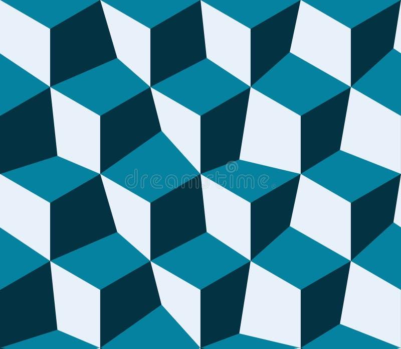 Blaue Abstraktion, bestanden aus blauen Ziegelsteinen lizenzfreie abbildung