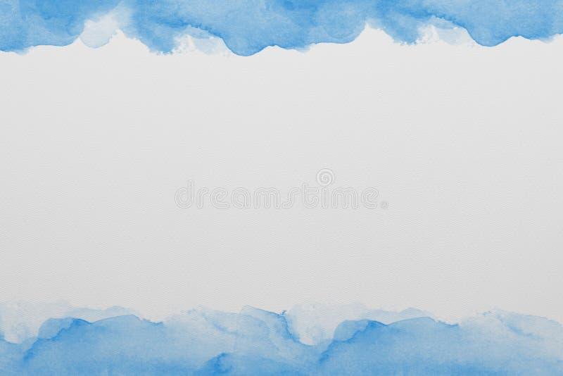 Blaue Aquarell-Papier-Beschaffenheit stock abbildung