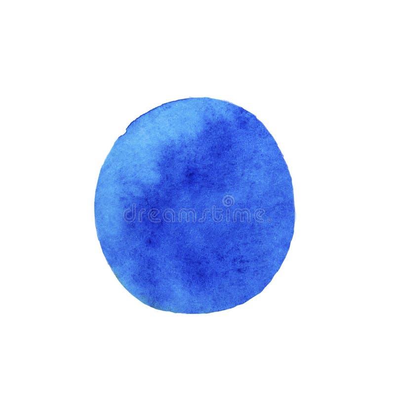 Blaue Aquarellstelle Helle blaue Farbe, Farbenflecke lizenzfreie abbildung