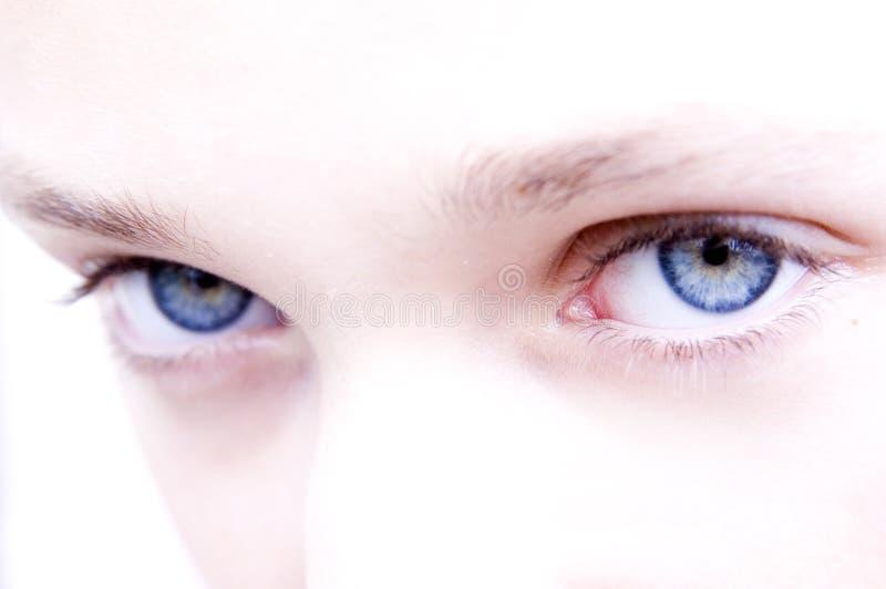 Blaue Augen lizenzfreie stockbilder