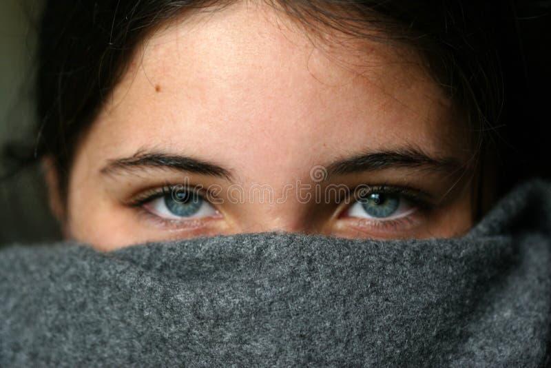 blaue Augen stockfotografie