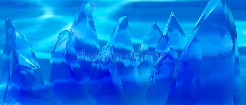 Blaue ausländische Felsen lizenzfreie abbildung