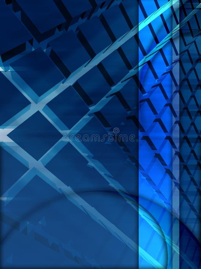 Blaue Auslegung 3d stock abbildung