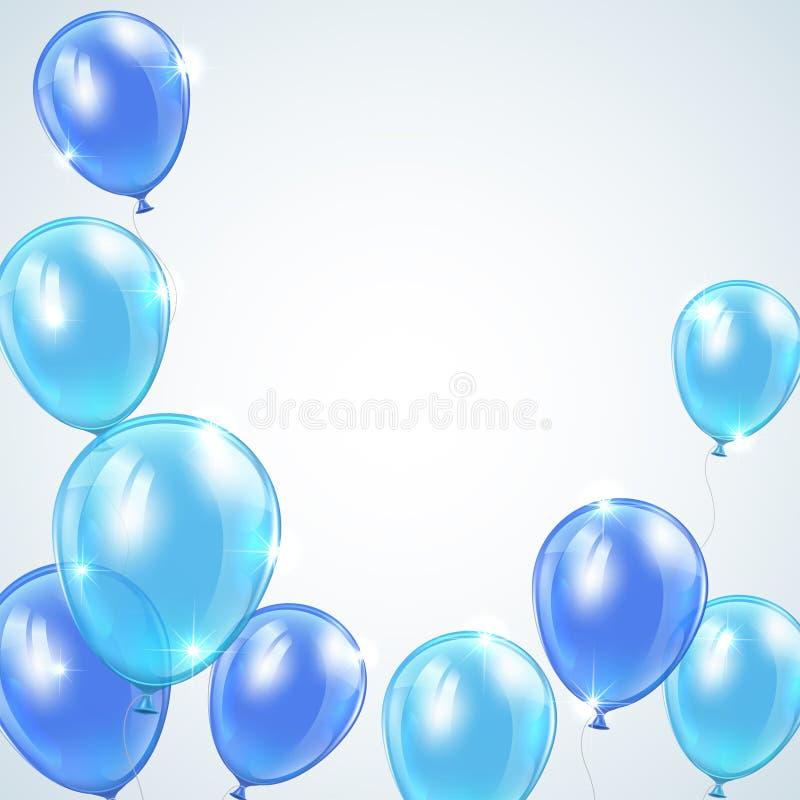 Blaue Ballone stock abbildung