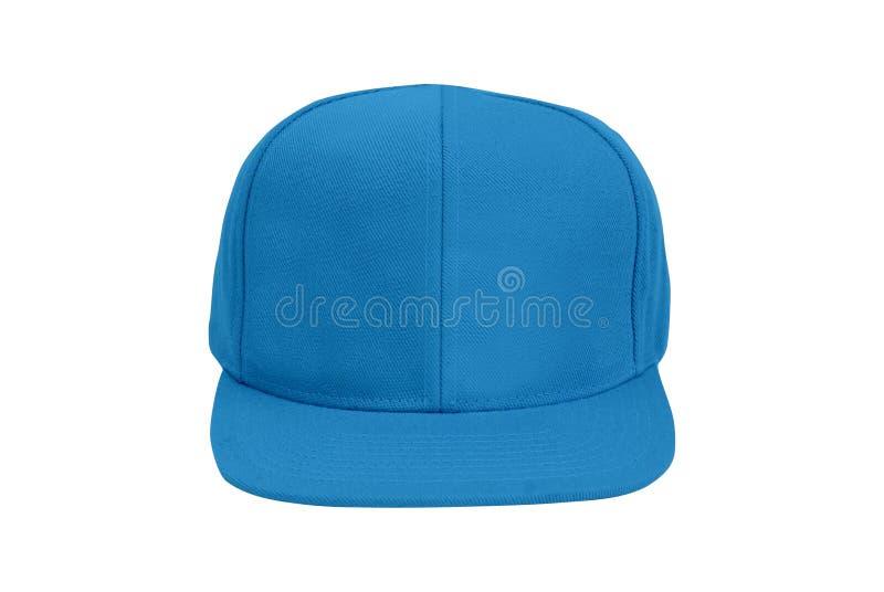 Blaue Baseball-Mütze lokalisiert lizenzfreies stockbild