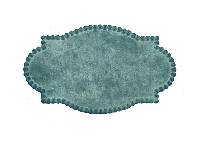 Blaue benennende Karte der Weinlese stockbilder