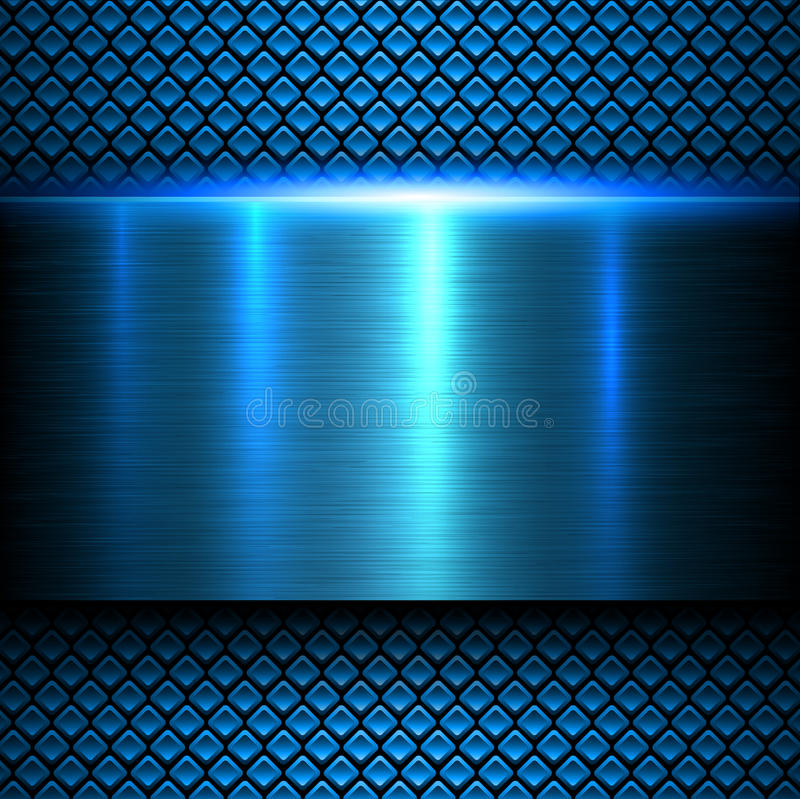 Blaue Beschaffenheit des Hintergrundes Metall stockbilder