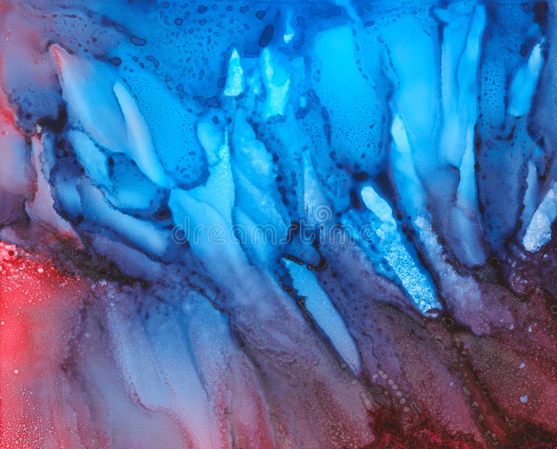 Blaue Beschaffenheit mit Spur und irgendeinem Purpur lizenzfreie abbildung