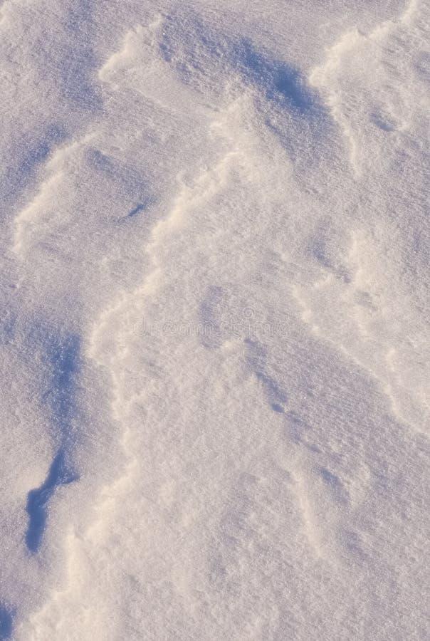 Blaue Beschaffenheitsschatten auf dem weißen Schnee 2 lizenzfreie stockfotos
