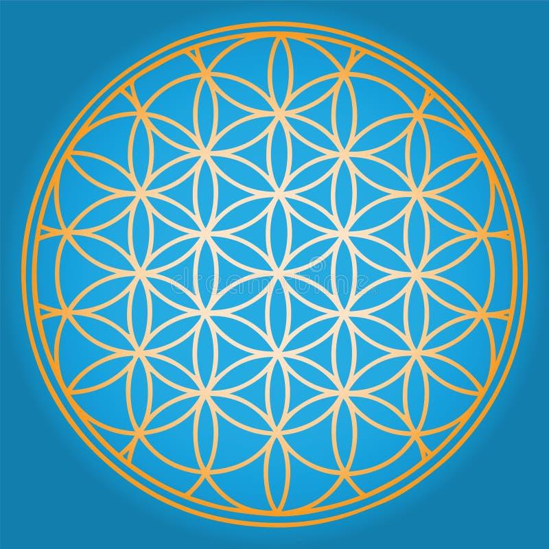 Blaue Blume des Lebens lizenzfreie abbildung