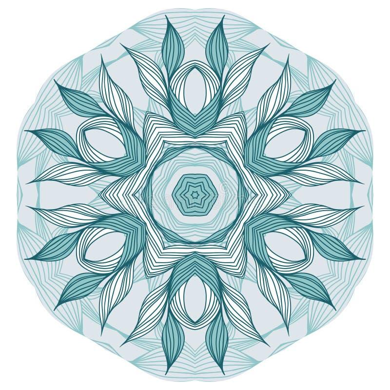 Blaue BlumenMandala vektor abbildung