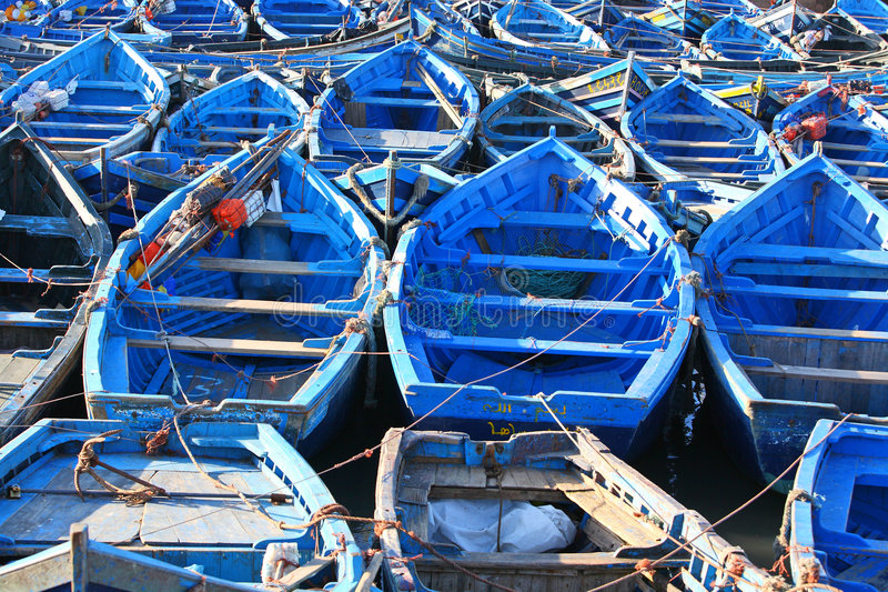 Blaue Boote lizenzfreie stockfotos