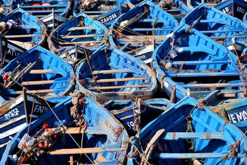 Blaue Boote stockbilder