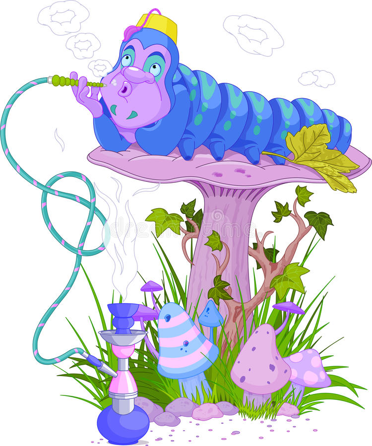 Blaue Caterpillar lizenzfreie abbildung