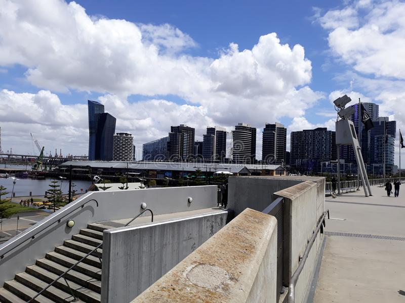 Blaue Docks stockbild