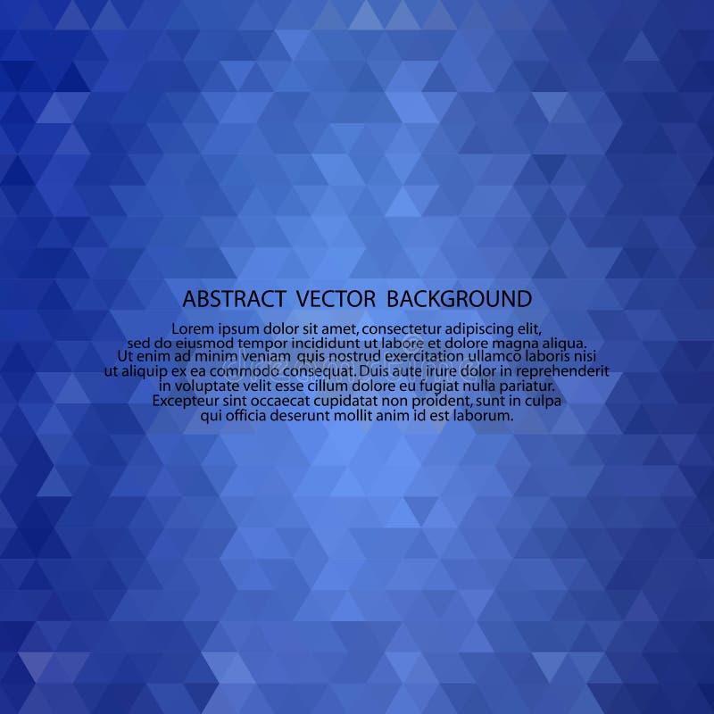 Blaue Dreiecke Polygonale Art Abstrakter vektorhintergrund ENV 10 vektor abbildung