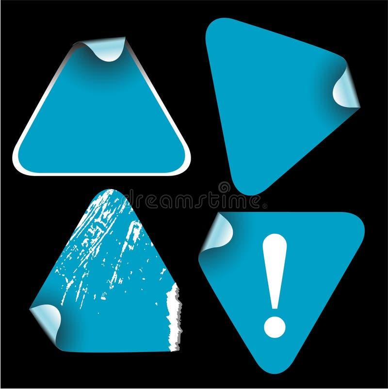 Blaue Dreieckkennsätze vektor abbildung