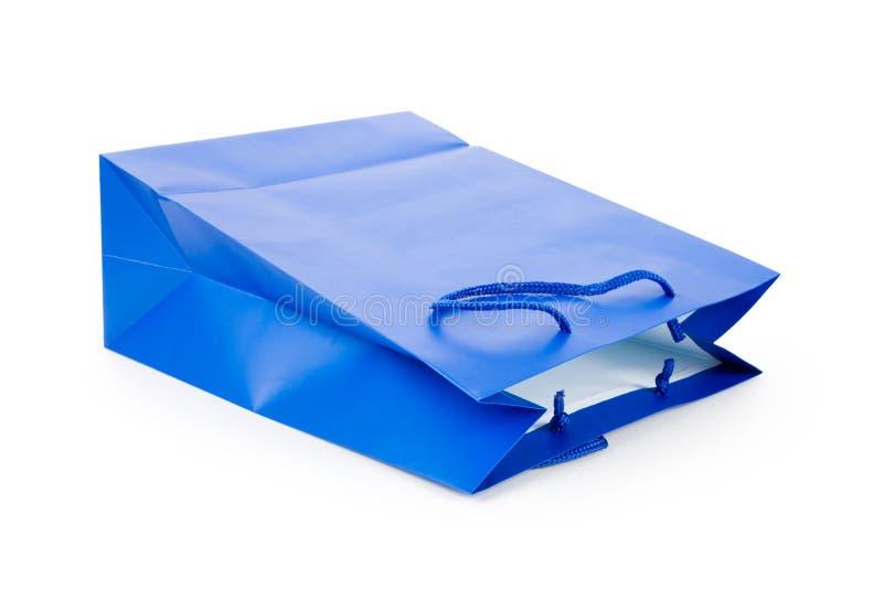 Blaue Einkaufstasche lizenzfreie stockfotografie