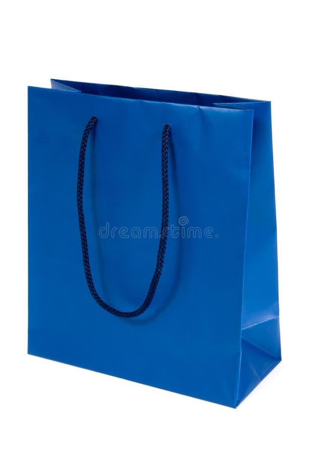 Blaue Einkaufstasche lizenzfreies stockbild