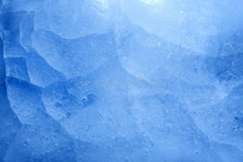 Blaue Eisnahaufnahme-Hintergrundbeschaffenheit stockfotos