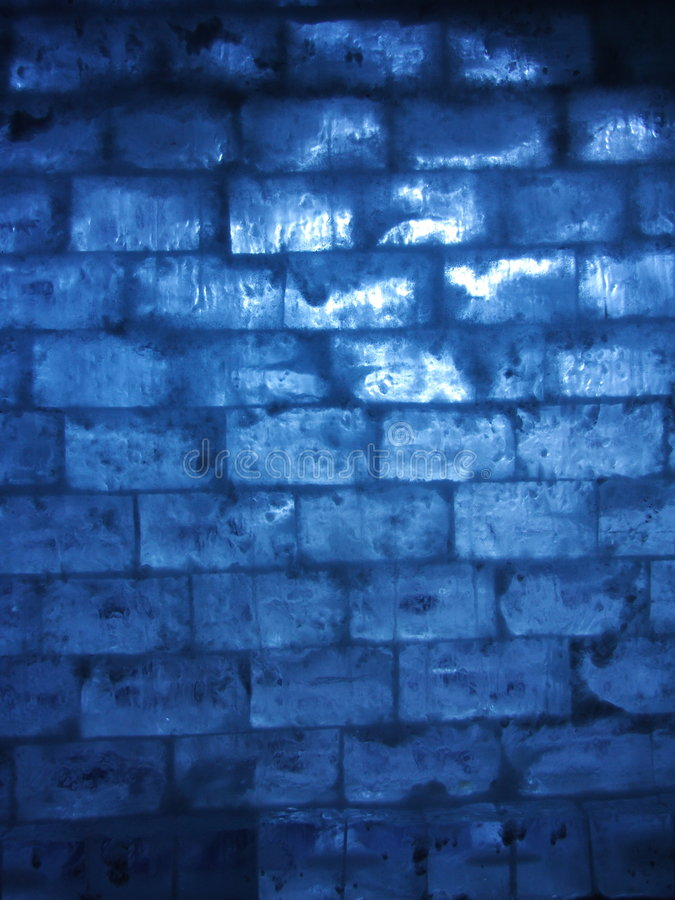 Blaue Eiswand lizenzfreie stockfotografie