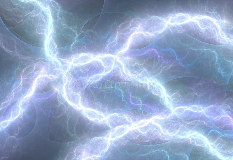 Blaue elektrische Beleuchtung lizenzfreie abbildung