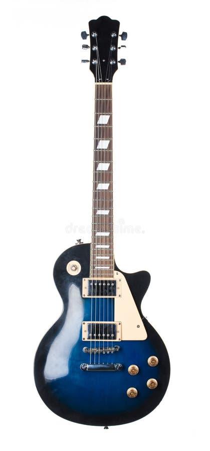 Blaue elektrische Gitarre lizenzfreie stockbilder