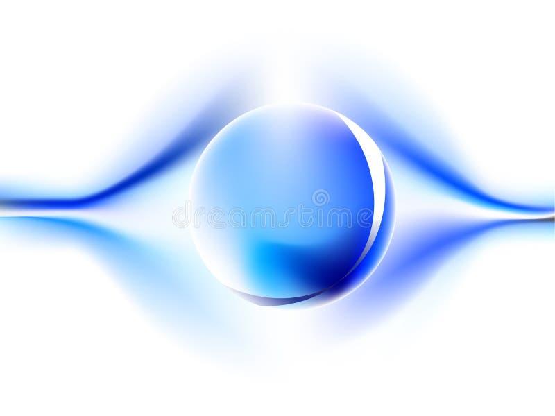 Blaue Energie mit Kugel stock abbildung
