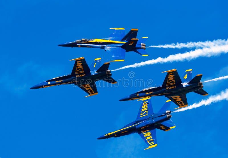 Blaue Engel Airshow lizenzfreie stockbilder