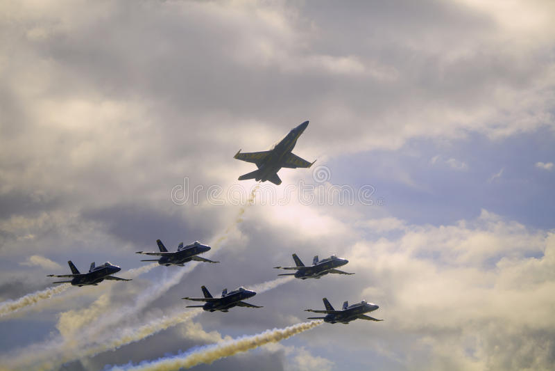 Blaue Engel bei Kaneohe Airshow stockfotografie