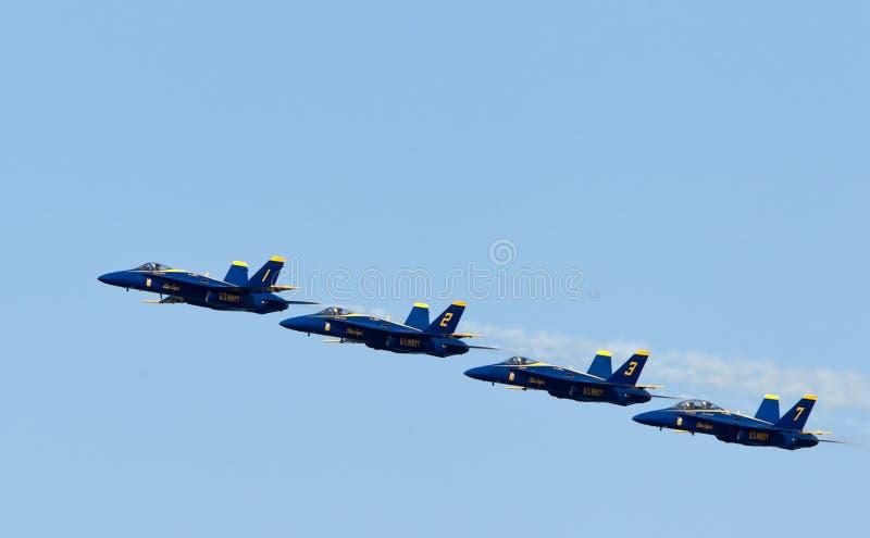 Blaue Engel des US-Marine-Demonstrations-Geschwaders stockbilder