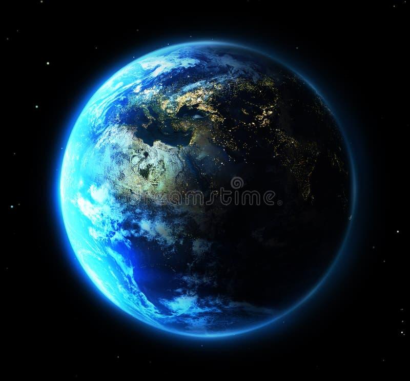 Blaue Erde stock abbildung