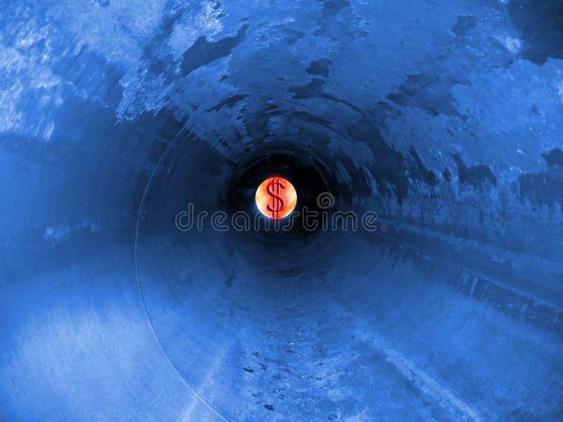 Blaue Erdgasleitung stockbilder
