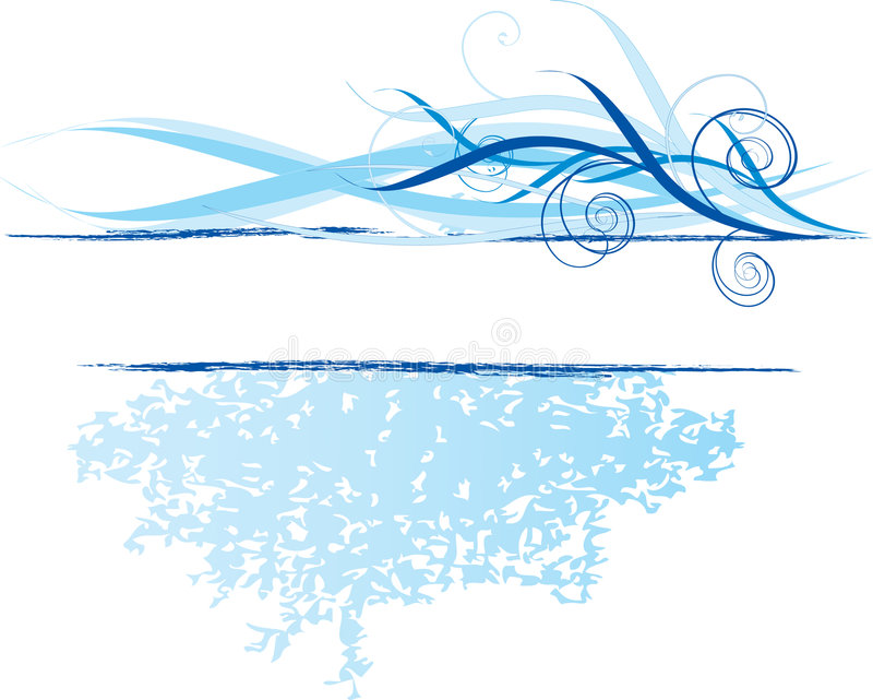 Blaue Fahne, Auslegungelement vektor abbildung