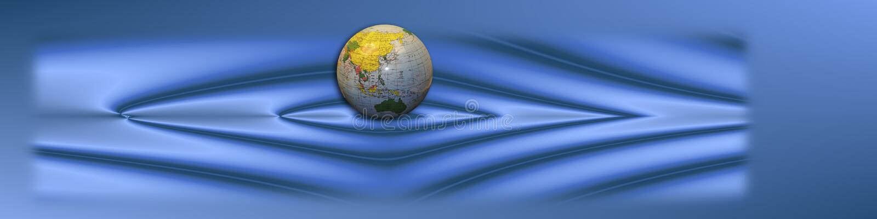Blaue Fahne mit Kugel lizenzfreies stockbild