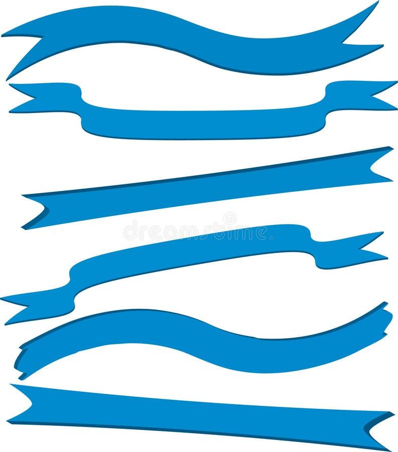 Blaue Fahnen lizenzfreie abbildung