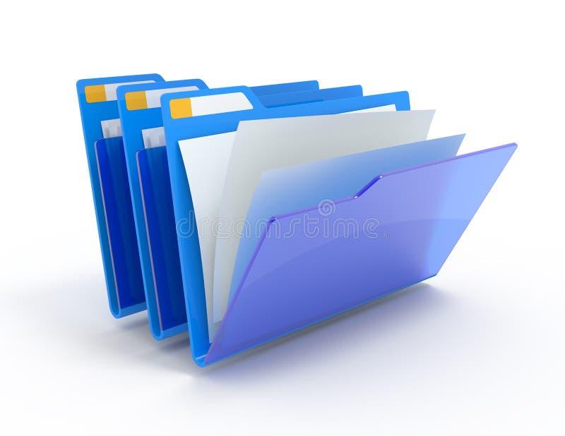 Blaue Faltblätter. vektor abbildung